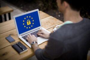 Laptop showing lock